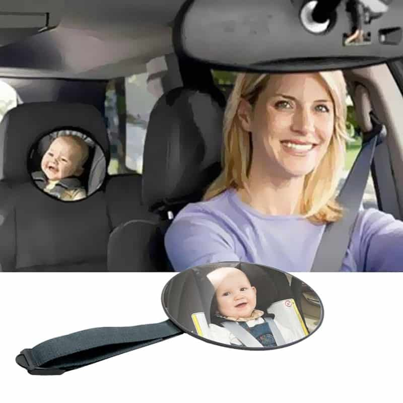 Install Childcare Safety Mirrors On Your Car Window