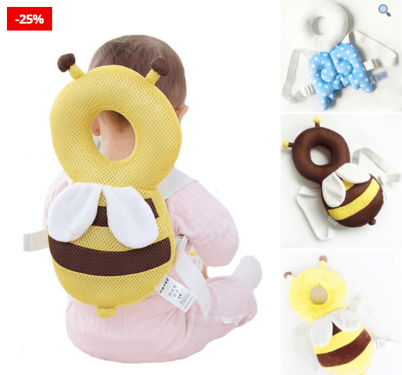 Bee Shaped Baby Backpack Protects Babies
