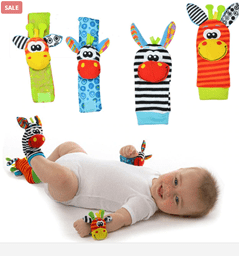 Baby Foot Finder And Wrist Rattle